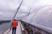 Монтаж кровли ETFE на стадионе Зенит-Арена