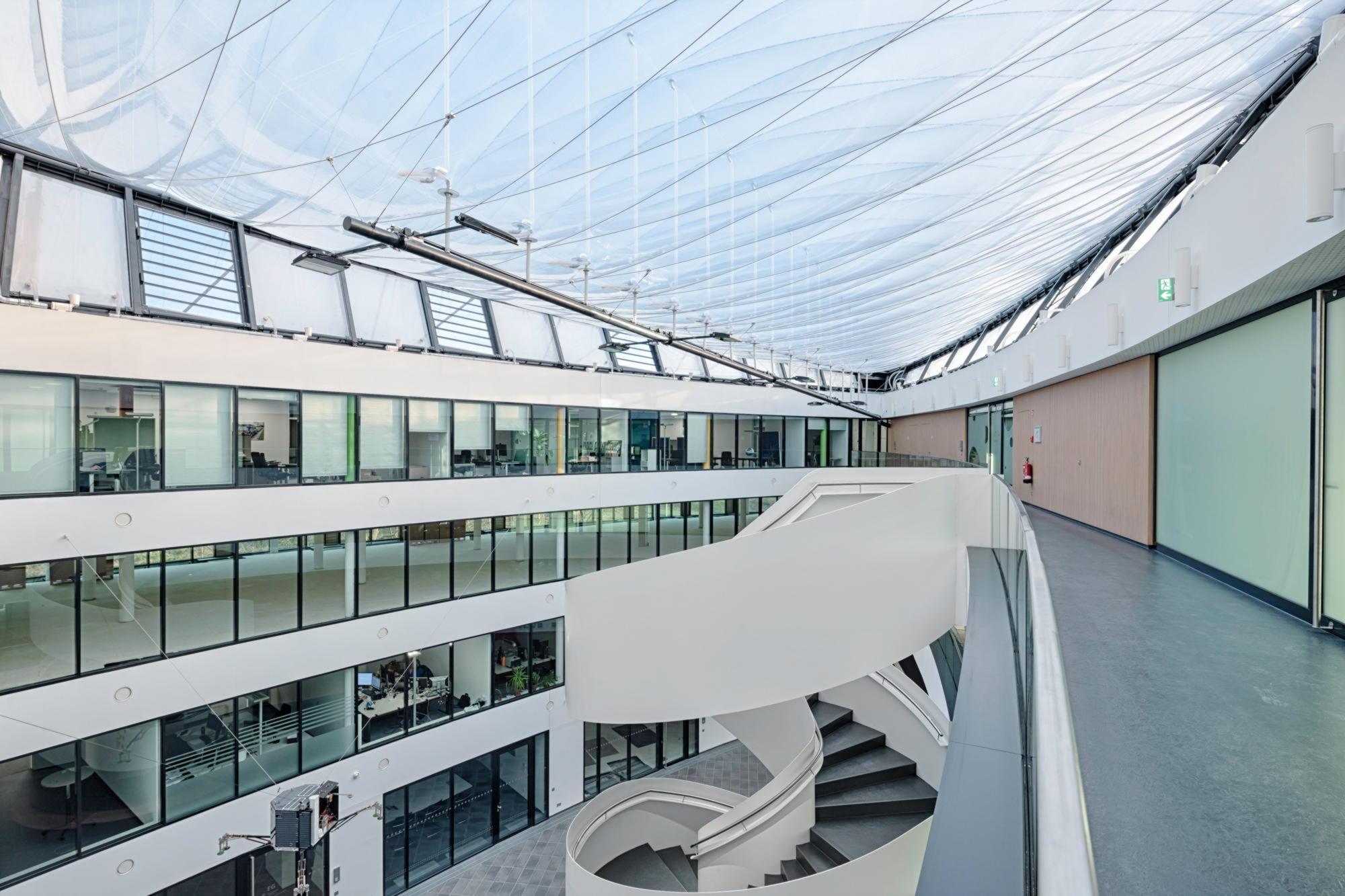 Крыша атриума из ETFE в Лилиентальхаузе