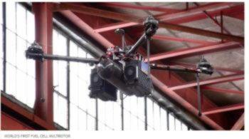 Первый дрон с водородными топливными элементами