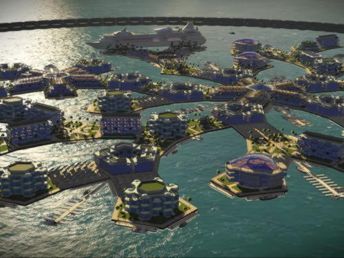 Плавающий город - проект институт Seasteading