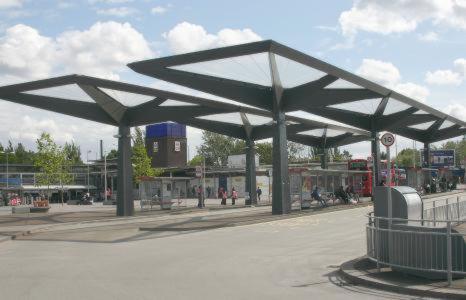 Покрытие из ETFE автобусной станции в Лондоне
