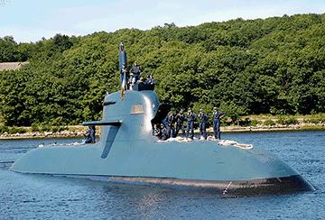 Покрытие фторполимером корпуса подводной лодки