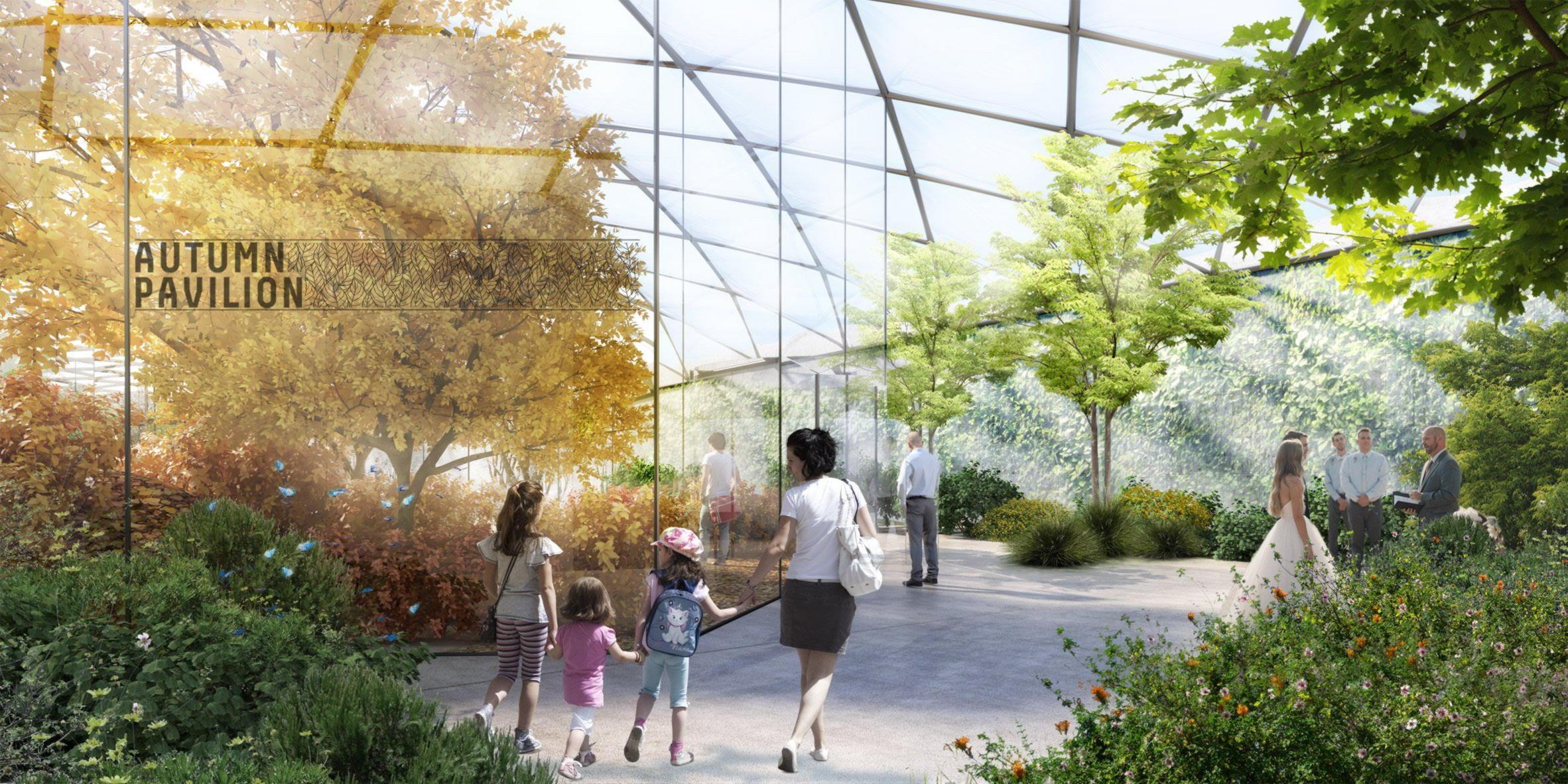 Сад четырех сезонов с крышей из фторопласта ETFE