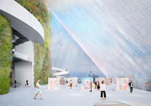 Внутренний вид музея Искусства в Бейруте по проекту IBDA
